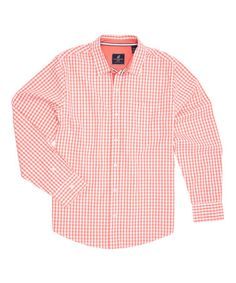 Loving this Ciana Coral & White Gingham Button-Up on #zulily! #zulilyfinds