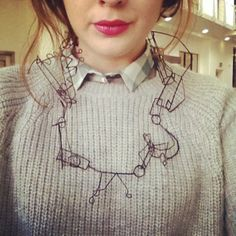 natalie lee wire necklace