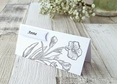 Floral Place Cards - Wedding Place Cards - Romantic Wedding - Name Cards - Place Cards - Wedding Place Names - Country Wedding Elegant Wedding, Floral Wedding, Wedding Name Cards, Birthday Places, Elvish, Romantic Places, My Etsy Shop, Place Card Holders, Unique Jewelry