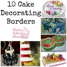 Cake Decorating Tutorials on Pinterest Cake Borders, Cake Decorating Techniques and Piping Bag
