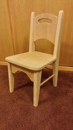 Handmade Wooden Kids Chair by LloydsSawdustShop on Etsy