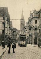 France : Caen : Photo : Tram Strassenbahn Tramway Streetcar Trolley