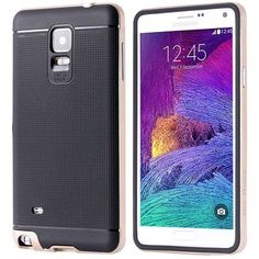 Note 4 Hybrid Armor Case Fashion TPU +Plastic Frame Hard Case For Samsung Galaxy Note 4 N9100 With Logo Luxury Shock proof Cover