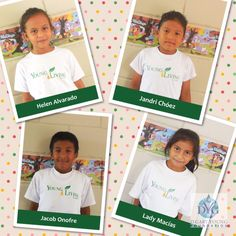This is Helen, Jandri, Jacob, and Lady- 3rd grade students at Young Living Academy!