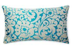 Savoie 14x24 Pillow, Aqua