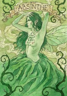 """Absinthe """"The Green Fairy"""" popular drink in the late 1800's"""