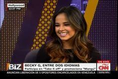 """Becky G, Entre Dos Idiomas y """"Participa En Take it of Off"""" y Promociona """"mangú"""""""