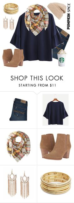 """Pumpkin Spice Latte Outfit"" by deloom on Polyvore featuring Abercrombie & Fitch, Hat Attack, Franco Sarto, Nanette Lepore and Hinge"