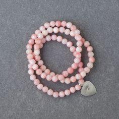 Dreamy Pink Jade Bracelet Jade Bracelet, Bracelets, Label, Pearls, Pink, Collection, Jewelry, Bangle Bracelets, Jewellery Making
