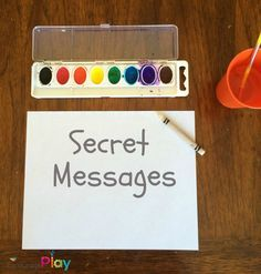 Secret Message Activity for Kids by Encourage Play