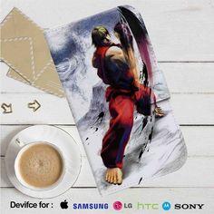 Street Fighter IV Ken Masters Leather Wallet iPhone 4/4S 5S/C 6/6S Plus 7  Samsung Galaxy S4 S5 S6 S7 NOTE 3 4 5  LG G2 G3 G4  MOTOROLA MOTO X X2 NEXUS 6  SONY Z3 Z4 MINI  HTC ONE X M7 M8 M9 CASE