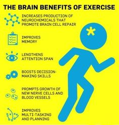 The brain benefits of exercise... I have heard this from someone before... oh yeah, my neurologist!