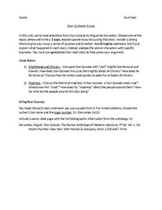 profile essay assignment gatsby worksheets and students don quixote essay