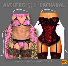 A diversão será garantida nesse carnaval com os diferentes modelos de aventais criativos que encontra em nossa loja virtual. #aventaiscriativos #aventaisdivertidos #aventalmasculino #aventalfeminino #aventaldecozinha #aventaldechurrasco
