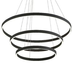 Cerchio LED Chandelier by Kuzco Lighting - Color: White - Finish: White -