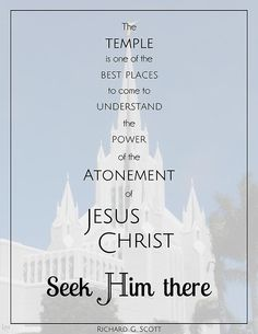 Seek Him there Gospel Quotes, Lds Quotes, Religious Quotes, Uplifting Quotes, Quotable Quotes, Great Quotes, Inspirational Quotes, Temple Quotes Lds, Temple Lds