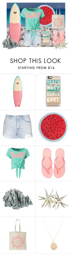 """Surfs Up"" by pibobelebeep ❤ liked on Polyvore featuring Quiksilver, Casetify, Topshop, Dorothy Perkins, Only Play, Havaianas and CVC Stones"