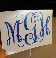 Monogram decal Personalized decal