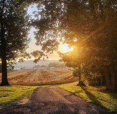 Sun setting on June Guntersville Alabama, Add Image, June, Country Roads, Instagram
