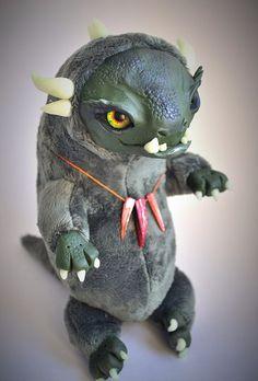 FANTASY PLUSH ANIMAL Chrysolite Dragon Ooak Fantasy by FoxyMocksy