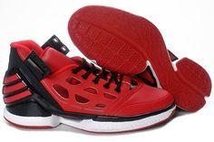 quality design cd35b 02b19 new-mens-adizero-rose-2.0-china-red-black-shoes