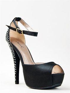 Cool Qupid CHANCE-06 Jewel Rhinestone Platform High Heel Ankle Strap Party Sandal