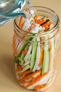 DIY homemade pickled veggies. Quick and easy to make, especially on bbq nights! Add your favorite veggies and enjoy.