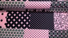 Stoff grafische Muster - Baumwollstoff Popeline Fabric Patchwork rosa - ein Designerstück von Stoffe-guenstig-kaufen bei DaWanda