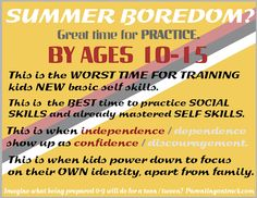 Summer Boredom for tweens / young teens? Great time to practice SOCIAL SKILLS!