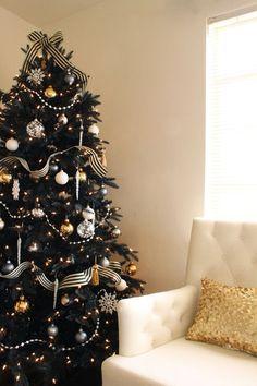 36 Súper elegante negro y oro de Navidad DÃ © cor Ideas | DigsDigs