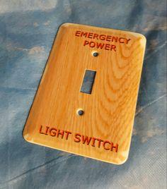 Metal custom printed switch covers. Laughingprofessor.net #professor #custom