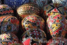 Bucovina Easter painted eggs Romania traditions .