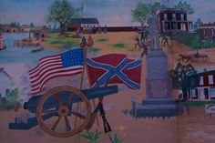 """Palmyra, MO - Sight of massacre of Confederate """"spies"""" by Union soldiers in the town square"""
