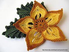 Ravelry: Beautiful Flower Pattern pattern by Lyubava Crochet #Crochet Flower #afs 12/5/13