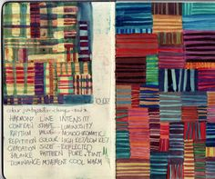 Gillian cook art journal pages colour play Sketch Journal, Artist Journal, Artist Sketchbook, Sketchbook Pages, Art Journal Pages, Art Journals, Sketchbook Ideas, Moleskine, Altered Books