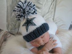 Dallas Cowboys  Colors Beanie Hat in Stark by babyknitsnfrills, $13.50