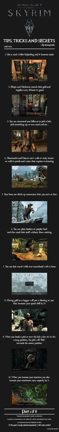 Tips, Tricks and Secrets for Skyrim