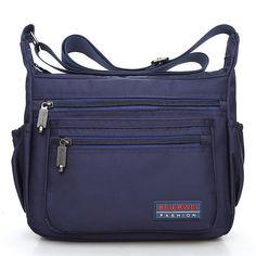 Men Women Nylon Waterproof Fashion Travel Crossbody Bag - Banggood Mobile