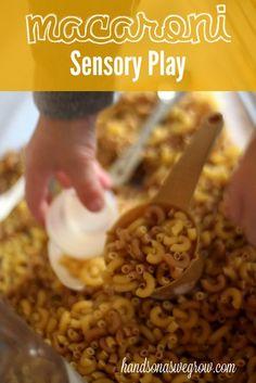 Macaroni Sensory Activity via Hands on As We Grow