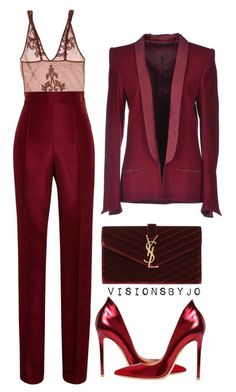 Untitled #1538 by visionsbyjo on Polyvore featuring polyvore fashion style Haider Ackermann Rosie Assoulin Golden Goose Gianvito Rossi Yves Saint Laurent clothing