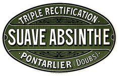 Absinthe Poster showing a Sauve Absinthe case label; original poster size 20 x 15cm.
