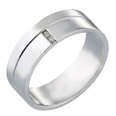 Groom's White Gold Ring - Product number 5106354