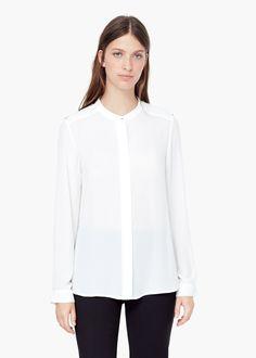 c26b5f56cd Flowy blouse - Women   MANGO Farmernadrág, Manga, Nadrág, Pulóver, Blúzok,