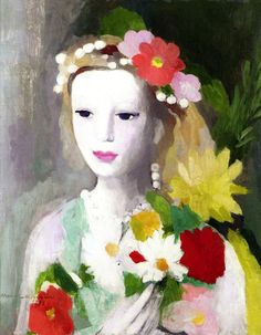 Young Girl with a Garland of Flowers, Marie Laurencin