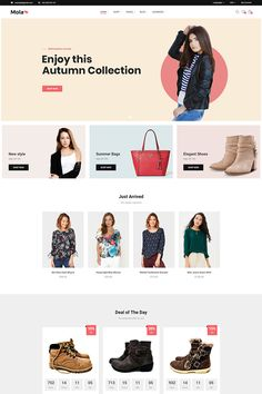 Mola is a WooCommerce WordPress Theme for online Shopping Stores. It has a modern attractive design and plenty of tools that will help you to sell better and Fashion Website Design, Website Design Inspiration, Fashion Site, Design Ideas, Fashion Group, Template Monster, Webdesign Layouts, Web Design Mobile, Ecommerce Website Design