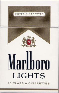 marlboro light....what vices will we have when no one smokes