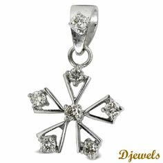 <p><strong>GENERALLY SHIPS BY EMS SPEED POST.</strong></p><br /><p><strong> FOR SHIPPING THROUGH FED EX, PLS ADD U$50.</strong></p><br /><p>Diamond Pendant Star  in Hallmarked White Gold</p> [Rs    23,549]