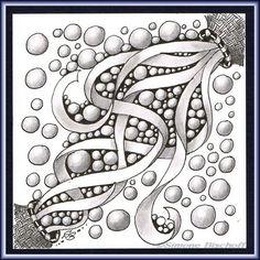 In dieser Woche sollte wieder einmal ein ausgewähltes Muster in einer kleinen Kritzelei angewendet werden. Das von Rick und Maria auf der offiziellen Zentangle-Homepage vorgestellte Muster Quib eri...