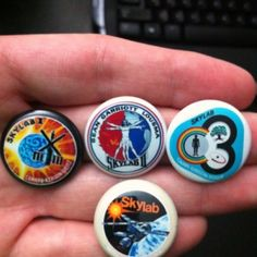 Skylab 4 BUTTON SET NASA mission Patch Button Pin Soyuz Space Station ISS 1970s at the Shopping Mall, $4.25 (USD)