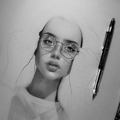 Drawing Process, Round Glass, Sketch, Glasses, Drawings, Instagram, Art, Sketch Drawing, Eyewear